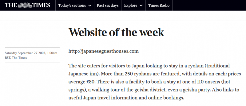 The-Times, Japan Tours, RediscoverTours.com